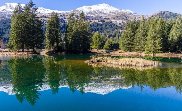 Badesee mit Spielparadies in Graubünden – Heidsee