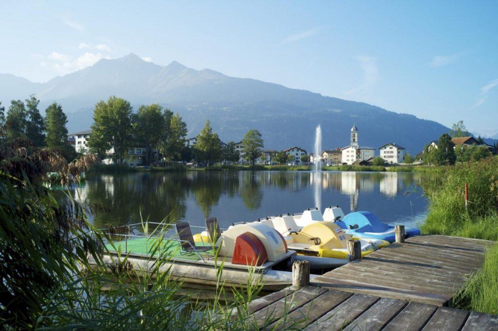 Badesee für Kinder in Graubünden - Laaxersee