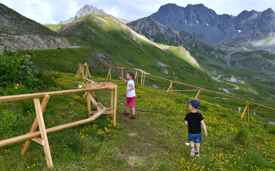Holzkugelbahn Alp Trider Sattel