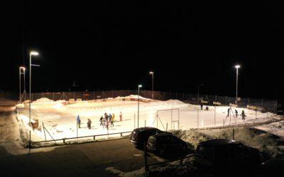 Eisplatz und Curlingbahn Tschierv