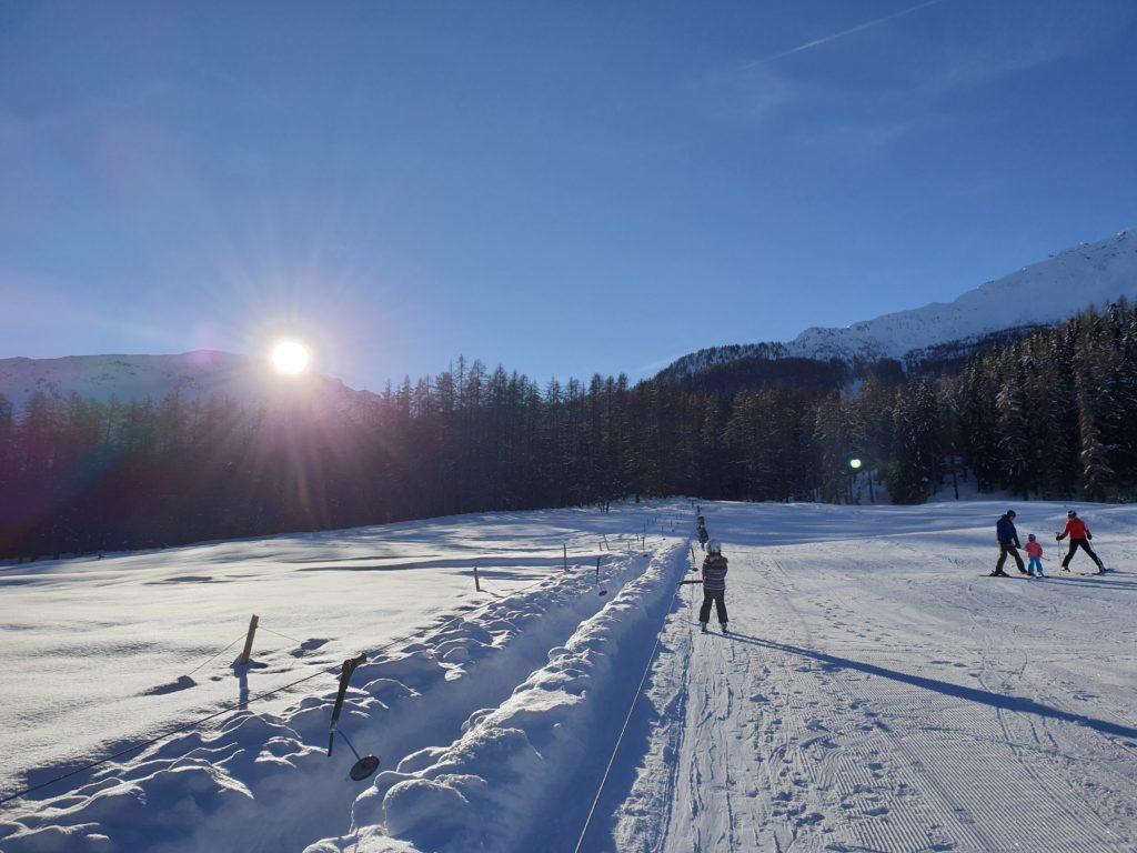Kinderskilift in Furom bei Fuldera